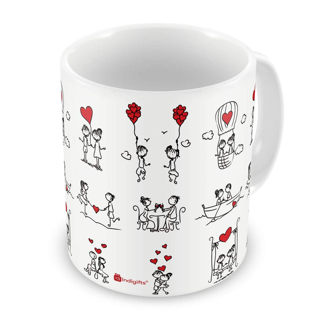 Best Gift Mugs Ceramic Ceramic Mug - 1 Piece, White