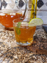 Moroccan Mint Iced tea with hint of lime