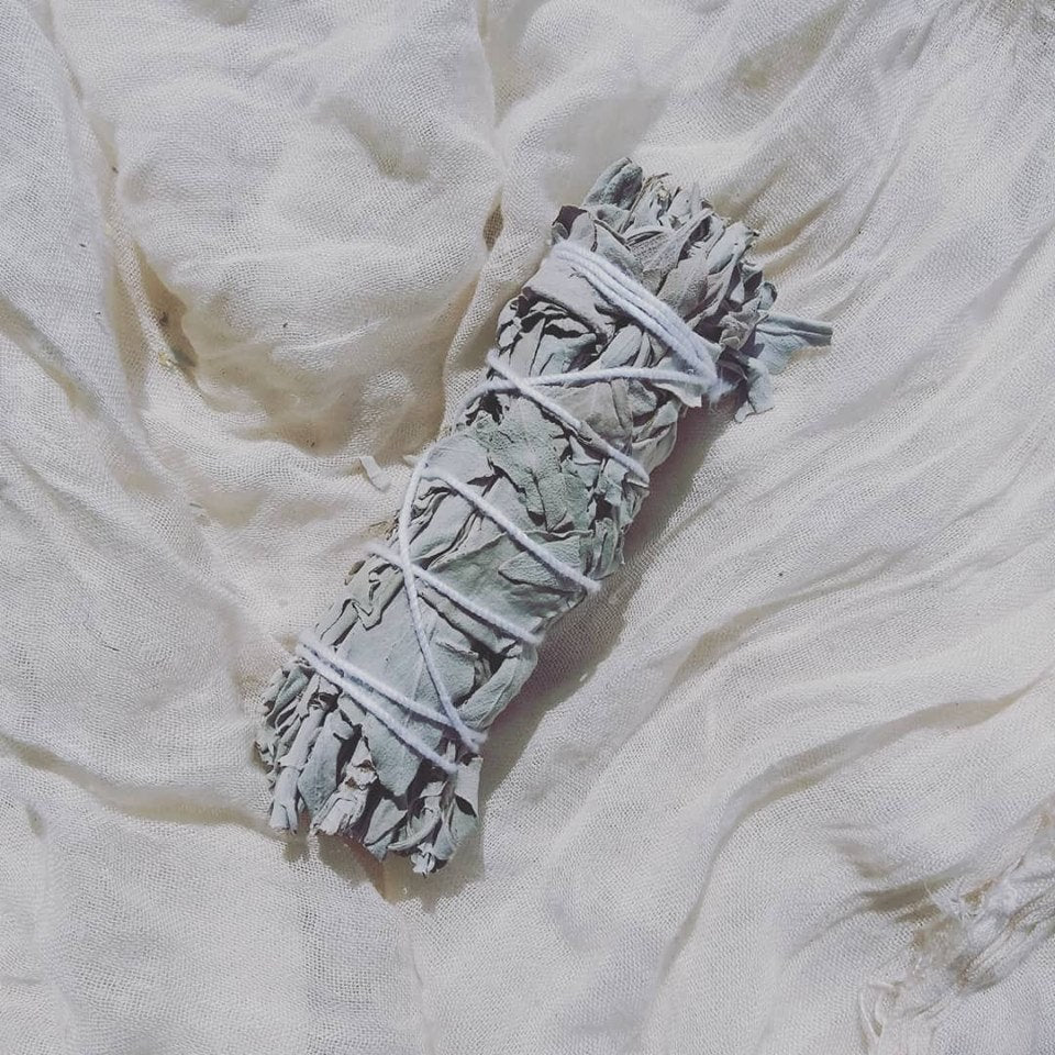 Naked Sage Stick  Sage Bundle for Ceremony, Meditation Altar, Home Cleansing,Positive Energy, Cleanse Negativity
