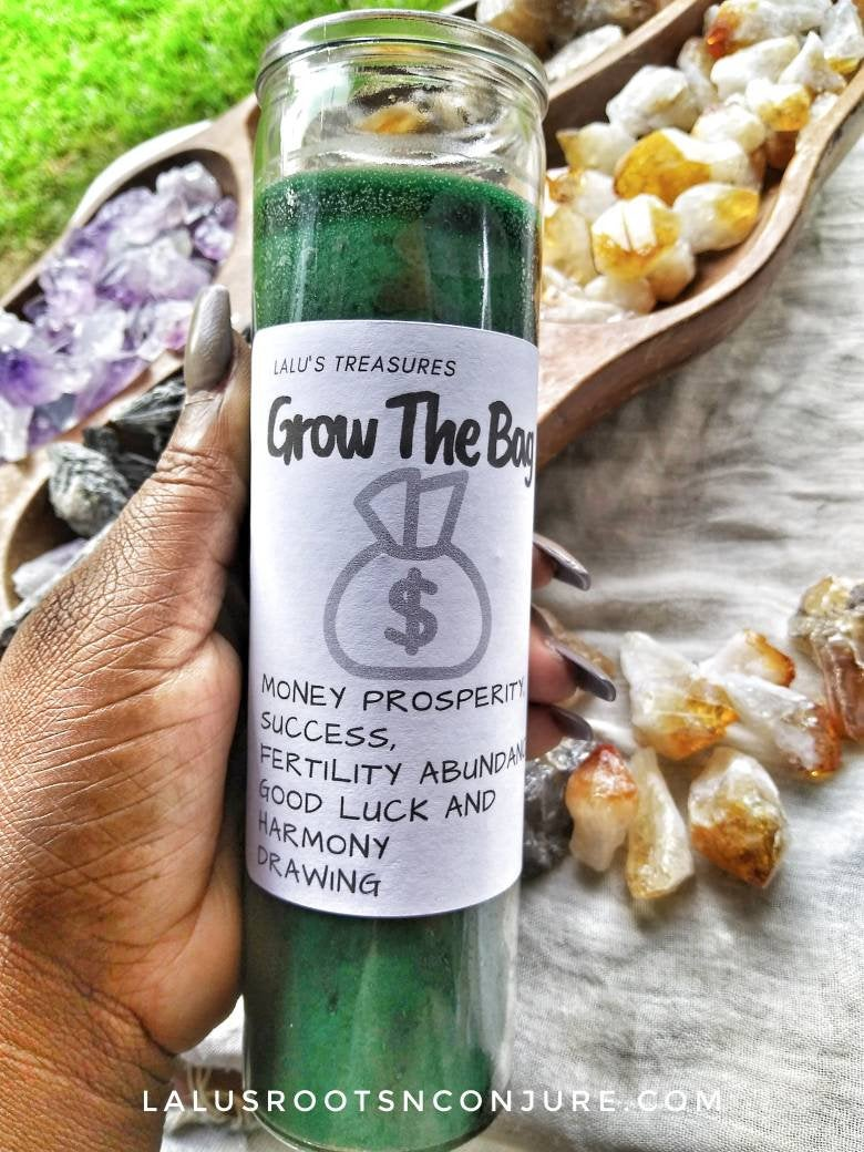 Grow The Bag Green Candle