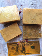 Load image into Gallery viewer, Gold Triumph Herbal Soap for Prosperity, Abundance, Achievement & Triumph