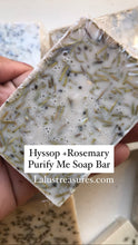 Load image into Gallery viewer, Holy Hyssop & Rosemary Spiritual Cleansing Soap, Remove Hexes, Hoodoo, Jinxes, Santeria