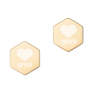 Loved Hexagon Earrings