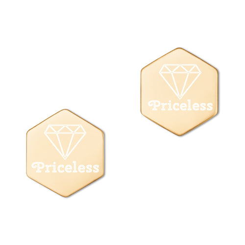 Priceless Hexagon Earrings