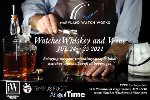 Watches Whiskey and Wine