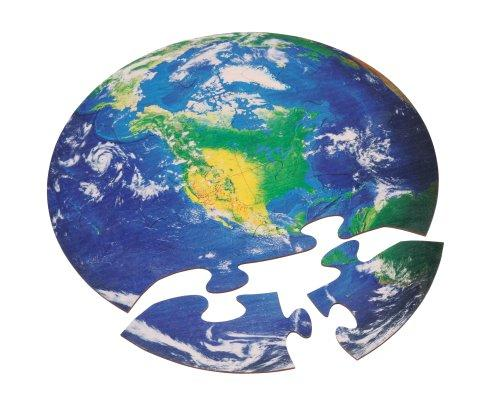 Earth 12-Piece Wooden Jigsaw Puzzle (C)