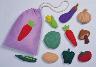 Felt 3-D Vegetables Motif Set (C)