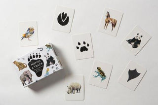 Match or Memory Cards: Animals to Their Tracks Set (C)