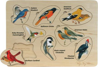Backyard Birds Wood 8-Piece Puzzle (C)