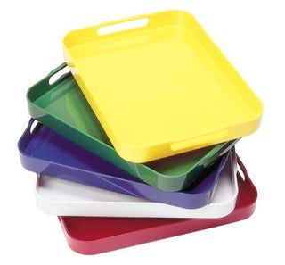 Trays: Plastic Stackable Green Set/4  (C)