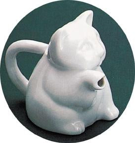 Creamer: Animal Cat Porcelain Pouring (C)