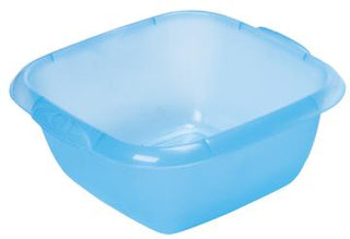 Dishpans Blue See-Thru  with Handles & Spouts (C)