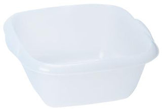 Dishpans Clear/White See-Thru With Handles & Spouts (C)