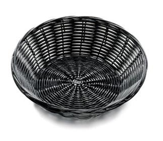 Basket: Round Black Washable (C)