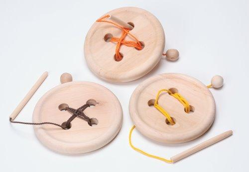 Sewing: Jumbo Wooden Button (C)