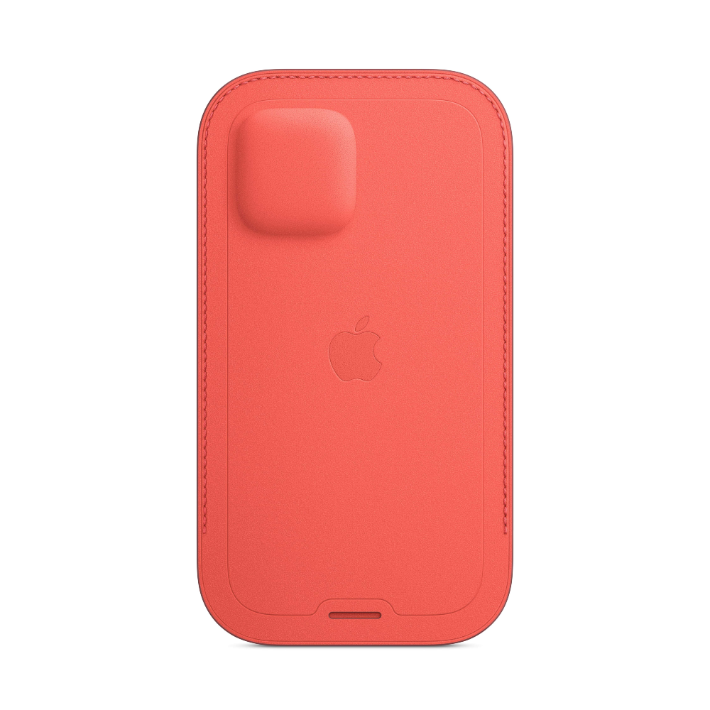 iPhone 12 | 12 Pro Leather Sleeve With MagSafe - Pink Citrus