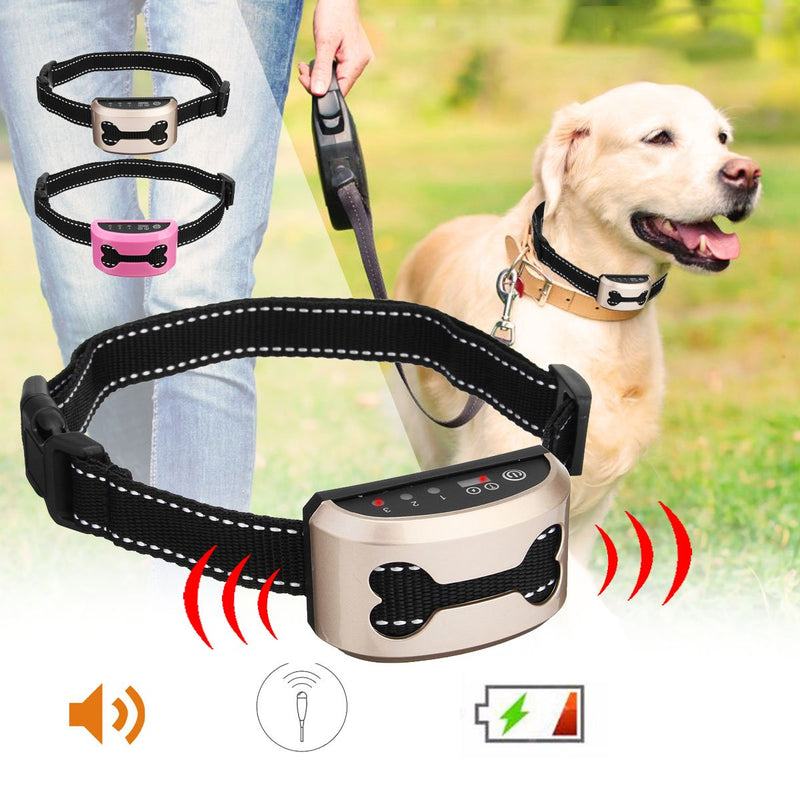 Anti Bark Dog Collar with Rechargeable and Waterproof Technology