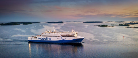 Aurora Botnia - the world's most environmentally friendly ferry is equipped with disinfecting blue light system
