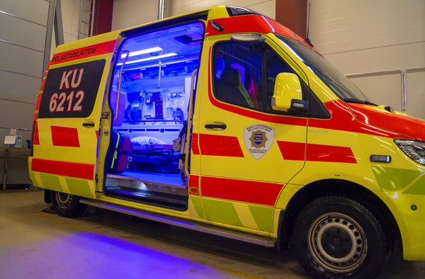 OEM solution: Spectral Blue disinfects ambulances automatically