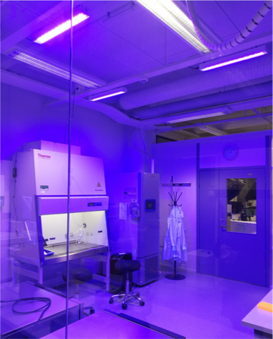 Thermo Fisher Scientific laboratory in disinfection mode - Spectral Blue