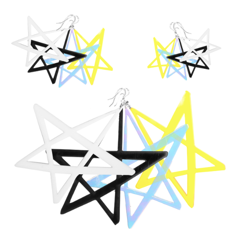 BABE STAR EARRINGS - NIN3 shop till you pop
