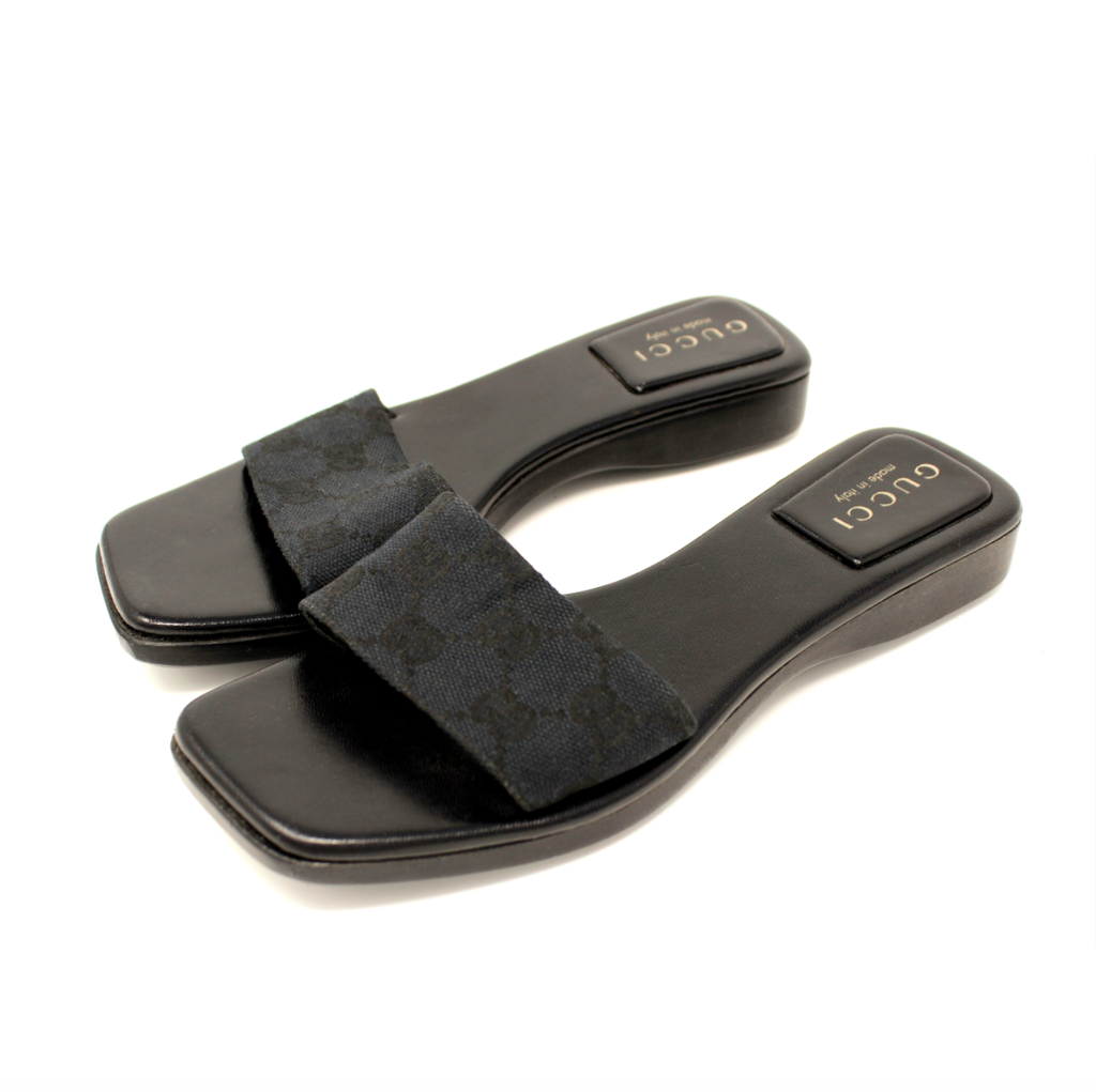 GUCCI MINI PLATFORM SLIDES 5.5 - shop sideara