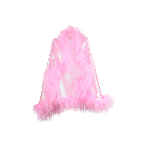 ETERNAL LUST CLOAK in VALENTINE PINK - NIN3 shop till you pop