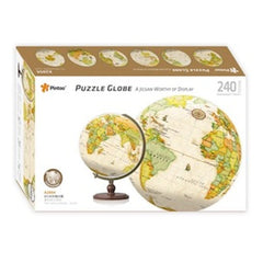 Globe of the World - Yellow Marble Earth Globe 240 Pce