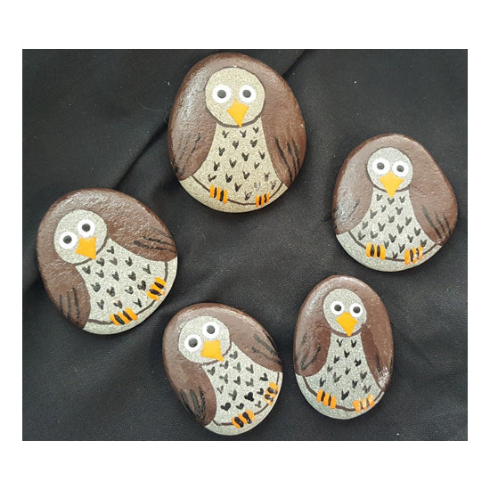 Hand Painted Pet Rock:Owl