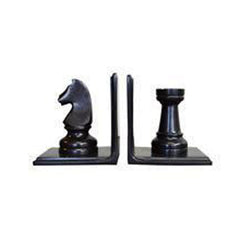 Chess Bookends Set in Bronze Finish