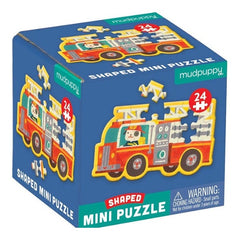 Firetruck, Mini Shaped Puzzle, 24pc