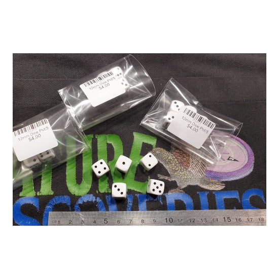 12mm Dice Pkt/5