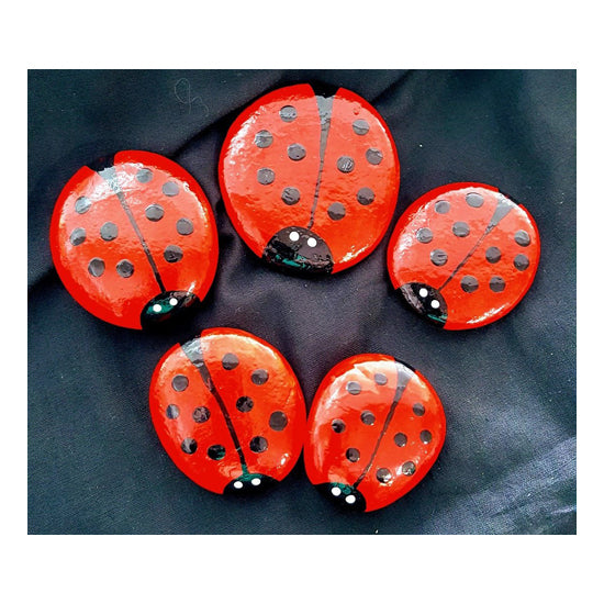 Hand Painted Pet Rock:Ladybird
