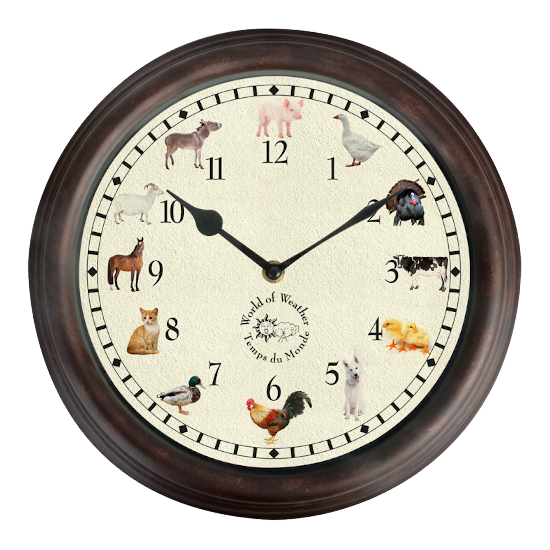 Clock with Farm Animal Sounds