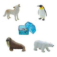 Assembled Polar Life Arctic Animals in Icebergs Puzzle