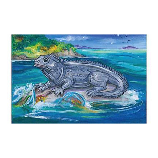 NZ Painting Postcards:Tuatara
