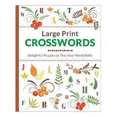 Large Print: Crossword Floral 96pg