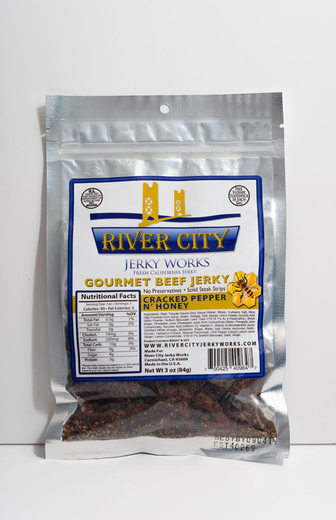 Cracked Pepper n' Honey Beef Jerky!