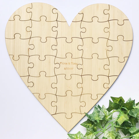 Wedding Guest Heart Puzzle