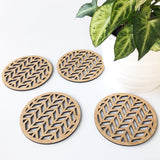 Herringbone Coasters