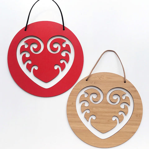 Koru Heart Wall Hanging