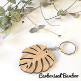 Monstera Key Ring
