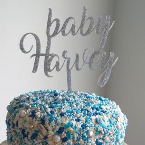 Baby Surname Cake Topper