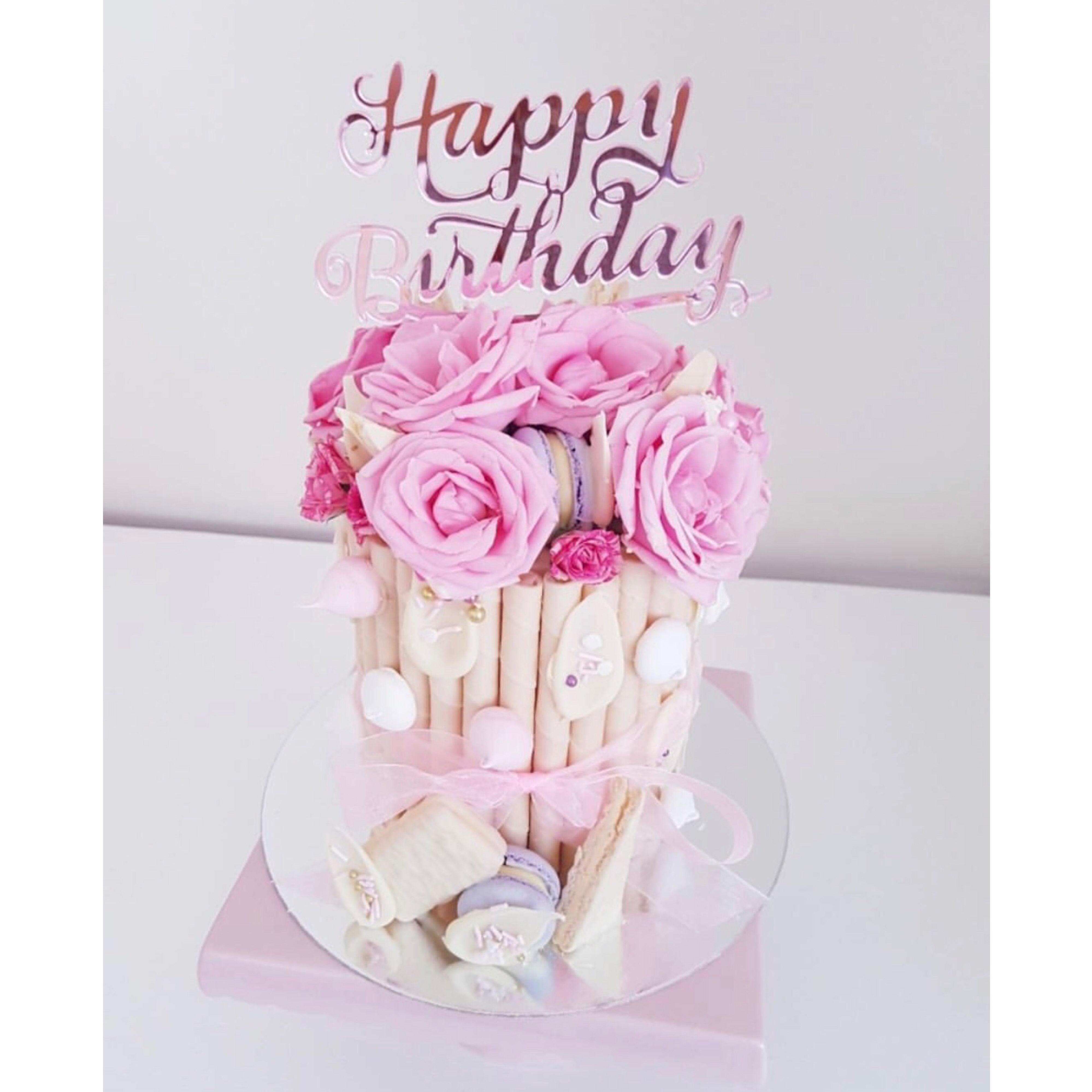 Happy Birthday Cake Topper Script