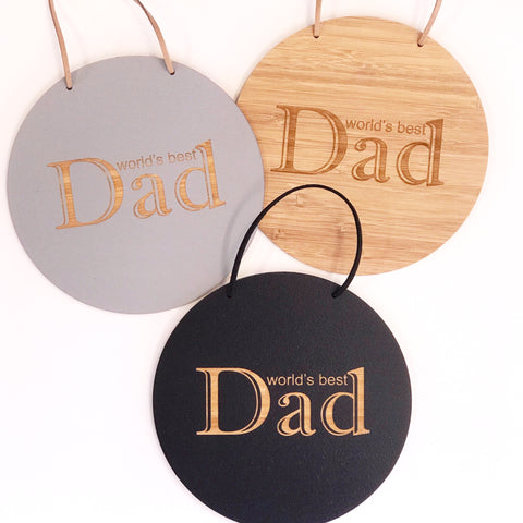 World's Best Dad Wall Hanging