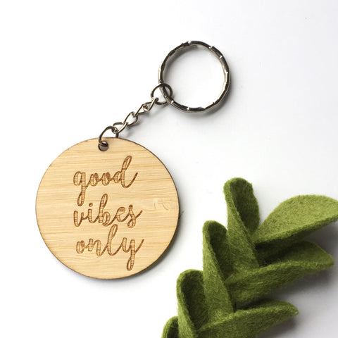 Good Vibes Only Key Ring