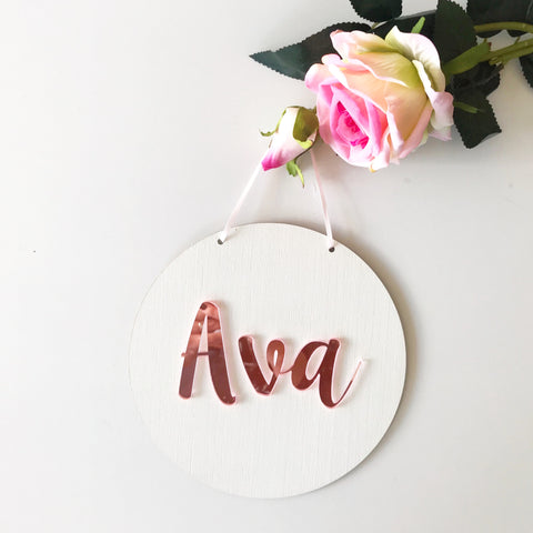 3D Mirror Acrylic Name Wall Hangings