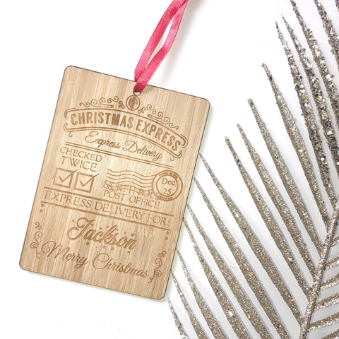 Custom Christmas Delivery Tag