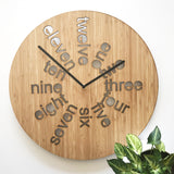 Bamboo Dipped What's the Time? Clock
