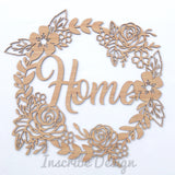 Floral Wreath Wall Hanging